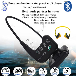 Bone conduction waterproof mp3 player bluetooth headset H905MB