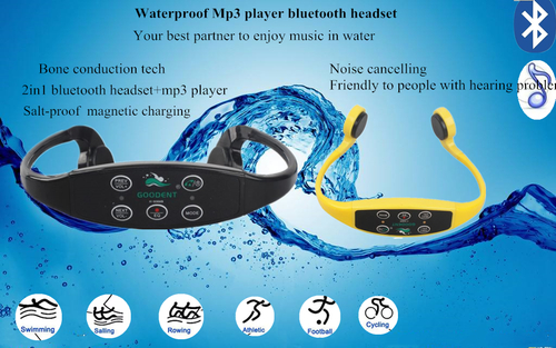 Bone conduction waterproof mp3 player bluetooth headset H906MB